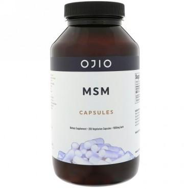 Ojio, MSMカプセル、1000 mg、植物性カプセル200粒 (Discontinued Item)