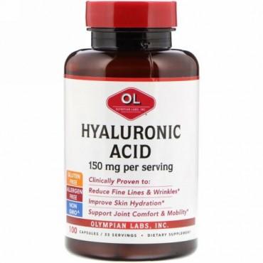 Olympian Labs, ヒアルロン酸、150 mg、100カプセル