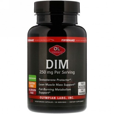 Olympian Labs, Performance Sports Nutrition, DIM, 250 mg, 30 Vegetarian Capsules