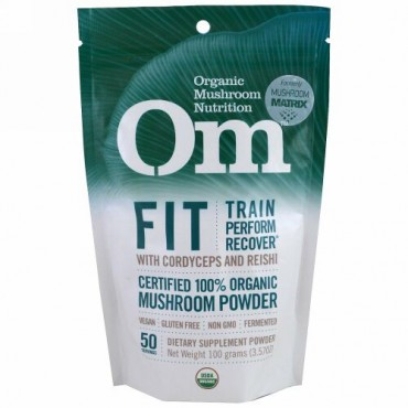Om Mushrooms, フィット、きのこパウダー、3.57 oz (100 g) (Discontinued Item)