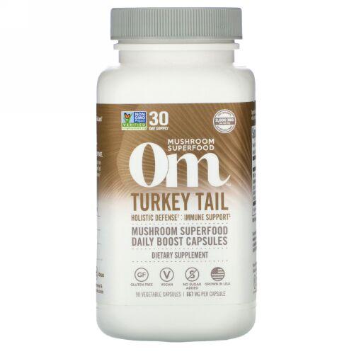 Om Mushrooms, ターキーテール、667 mg、90ベジタリアンカプセル