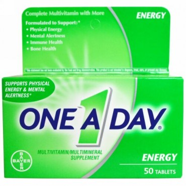 One-A-Day, エネルギー、マルチビタミン/マルチミネラルサプリ、50錠 (Discontinued Item)
