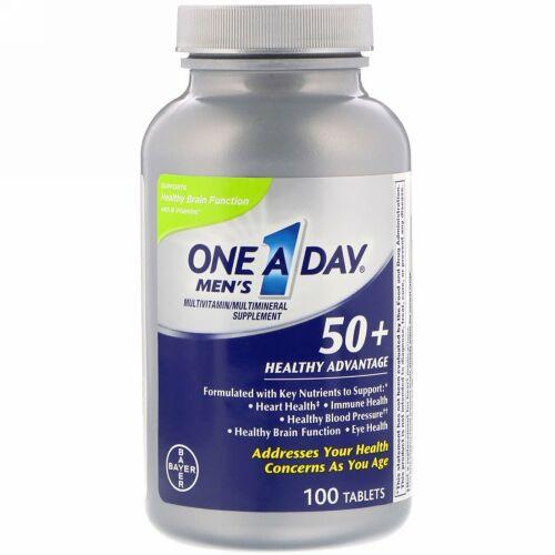 One-A-Day, メンズ50+、健康アドバンテージ、マルチビタミン/マルチミネラル・サプリメント、100錠