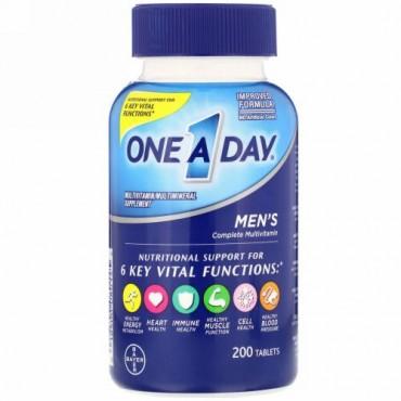 One-A-Day, 男性用コンプリートマルチビタミン、200粒