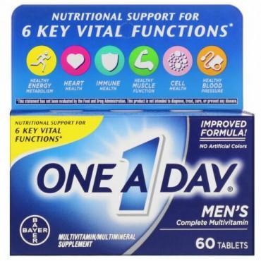 One-A-Day, メンズフォーミュラ、コンプリートマルチビタミン、タブレット60粒