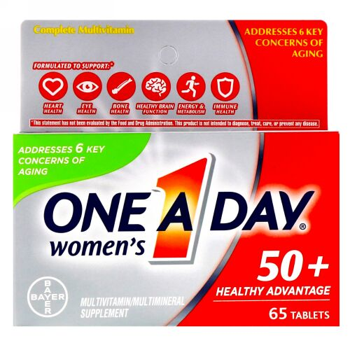 One-A-Day, Women's 50+, Healthy Advantage, 65 Tablets (Discontinued Item)