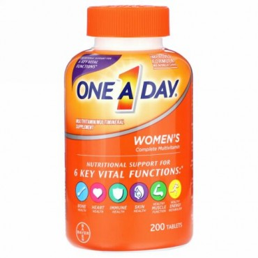 One-A-Day, 女性用コンプリートマルチビタミン、200粒