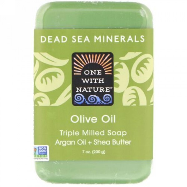 One with Nature, Triple Milled Soap Bar, Olive Oil, 7 oz (200 g)