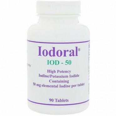 Optimox, イオドラル、 50 mg、 90 タブレット