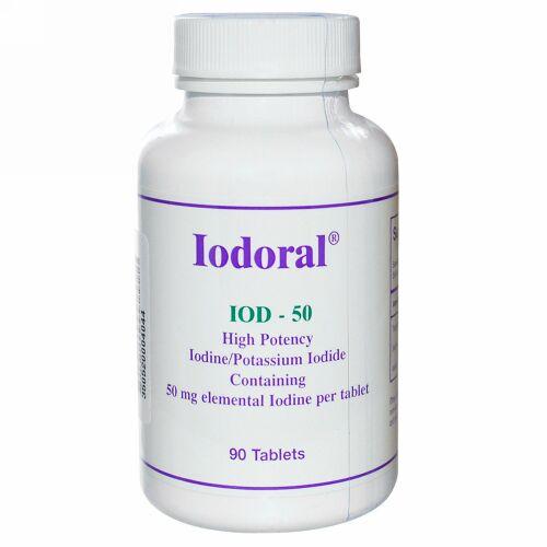 Optimox, Iodoral, 50 mg, 90 錠 (Discontinued Item)