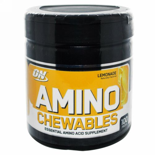 Optimum Nutrition, Amino Chewables, Lemonade, 100 Pieces (Discontinued Item)