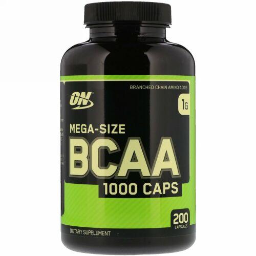 Optimum Nutrition, BCAA 1000キャップス、メガサイズ、1g、200粒