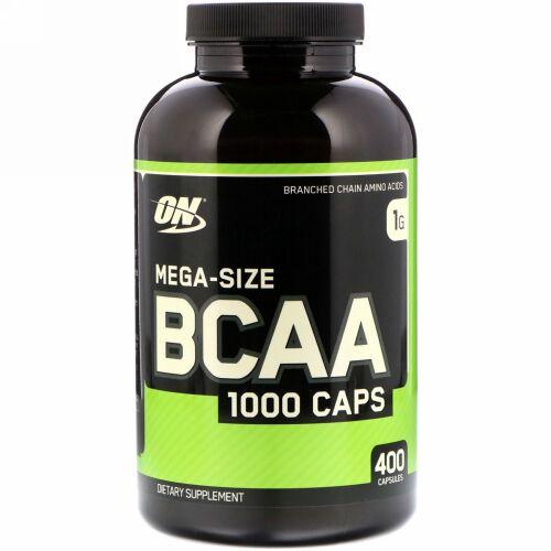 Optimum Nutrition, BCAA 1000キャップ、メガサイズ、1g、400カプセル