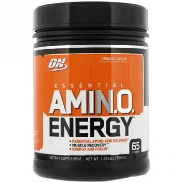Optimum Nutrition, エッセンシャルアミN.O. エナジー、 オレンジクーラー、 1.29ポンド (585 g)