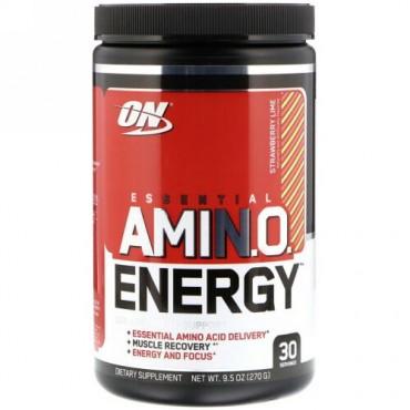 Optimum Nutrition, エッセンシャル アミノ エナジー、 ストロベリー ライム、 9.5 oz (270 g)