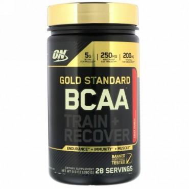 Optimum Nutrition, Gold Standard、BCAA、訓練 + 回復、フルーツパンチ、 9.9 oz (280 g) (Discontinued Item)