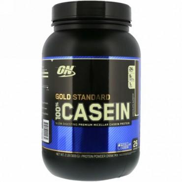 Optimum Nutrition, Gold Standard 100% Casein(ゴールドスタンダード100%カゼイン)、チョコレートスプリーム、909g(2ポンド)