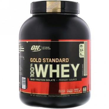 Optimum Nutrition, Gold Standard 100% Whey(ゴールドスタンダード100%ホエイ)、クッキー&クリーム、2.1kg(4.63ポンド)