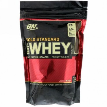 Optimum Nutrition, Gold Standard 100% Whey, Double Rich Chocolate, 1 lb (454 g)