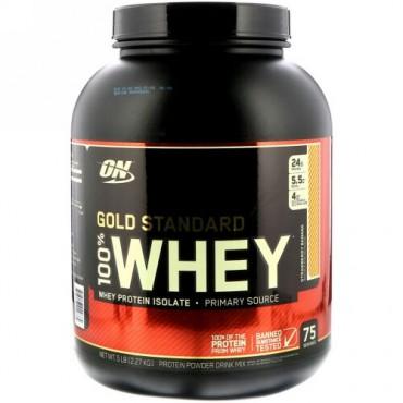 Optimum Nutrition, Gold Standard 100% Whey(ゴールドスタンダード100%ホエイ)、ストロベリーバナナ、2.27kg(5ポンド)