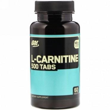 Optimum Nutrition, L-カルニチン、500mg、60粒
