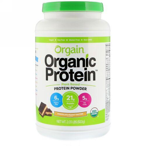 Orgain, Organic Protein Powder Plant Based, Chocolate Peanut Butter, 2.03 lb (920 g)