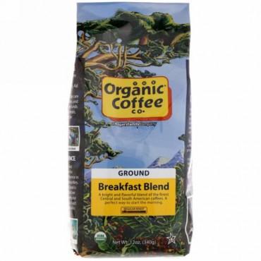 Organic Coffee Co., ブレックファーストブレンド、グラウンドコーヒー、340g(12oz)
