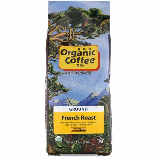Organic Coffee Co., フレンチロースト、粉コーヒー、340g(12オンス)