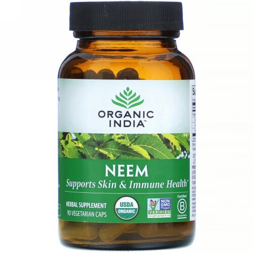 Organic India, ニーム、植物性カプセル90粒