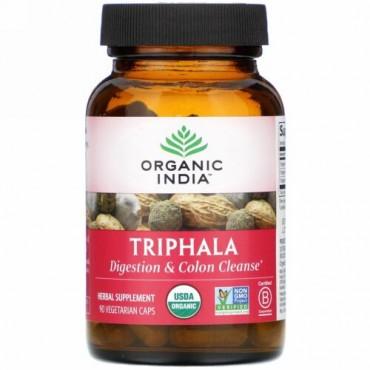 Organic India, トリファラ、植物性カプセル90粒