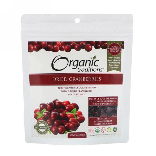Organic Traditions, ドライクランベリー、4オンス (113 g)