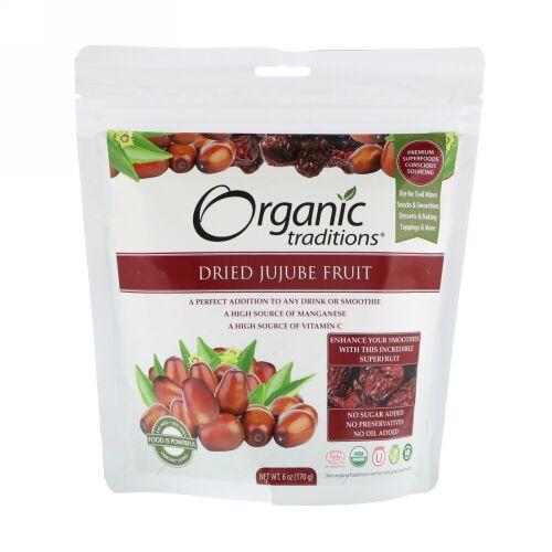 Organic Traditions, 乾燥ナツメ、170g(6 oz)
