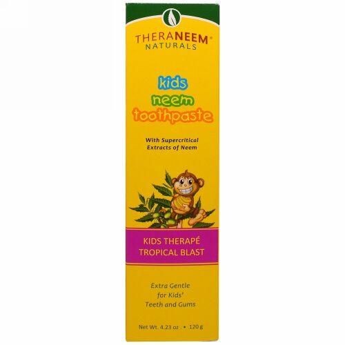 Organix South, TheraNeem Naturals, Kids Therapé, Kids Neem Toothpaste, Tropical Blast, 4.23 oz (120 g) (Discontinued Item)