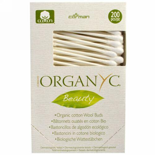 Organyc, ビューティー、オーガニックコットンウールバド、200 Pieces