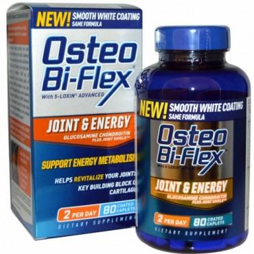 Osteo Bi-Flex, ジョイント &エネルギー、グルコサミン・コンドロイチン・プラス・ジョイント・シールド、コーティッド・カプレット80 錠 (Discontinued Item)