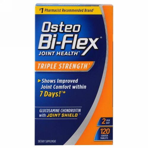 Osteo Bi-Flex, グルコサミン・コンドロイチン(5-ロキシン配合)アドバンス・ジョイント・ケア, トリプル・ストレングス, 120 コーティング・カプレット
