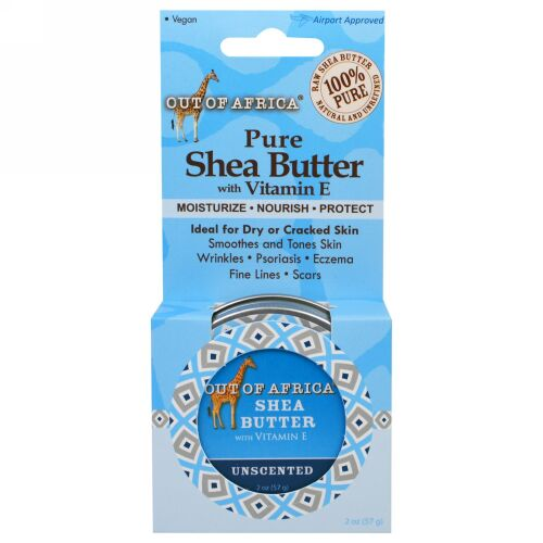 Out of Africa, Pure Shea Butter with Vitamin E, For Extreme Hydration, Unscented, 2 oz (56 g) (Discontinued Item)