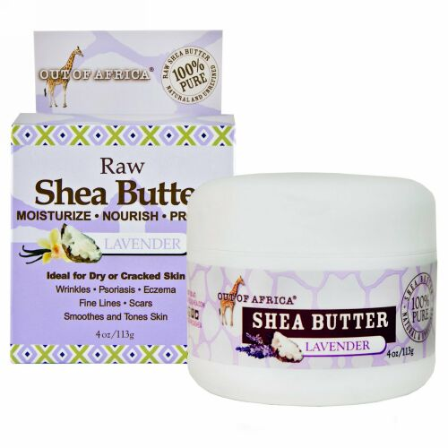 Out of Africa, Raw Shea Butter, Lavender, 4 oz (113 g) (Discontinued Item)