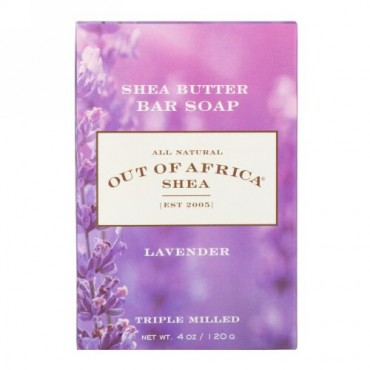 Out of Africa, Shea Butter Bar Soap, Lavender, 4 oz (120 g) (Discontinued Item)