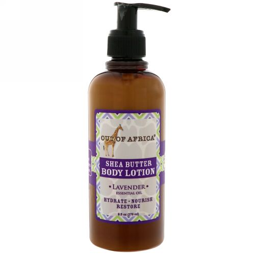 Out of Africa, Organic Shea Butter Body Lotion, Lavender, 9 oz (260 ml) (Discontinued Item)