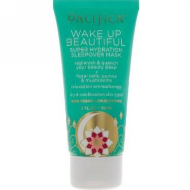 Pacifica, Wake Up Beautiful Sleep Hydration Sleepover Mask, 2 fl oz (59 ml) (Discontinued Item)