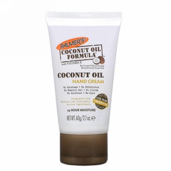 Palmer's, ココナッツオイル、 ハンドクリーム、 2.1 oz (60 g)
