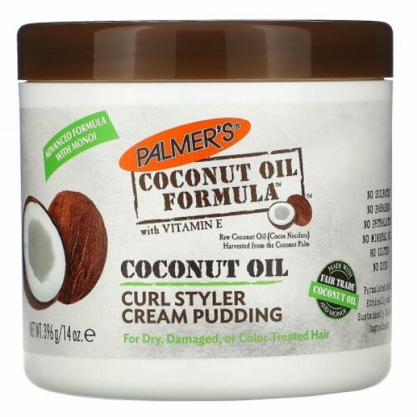 Palmer's, Curl Styler Cream Pudding, Coconut Oil, 14 oz (396 g)