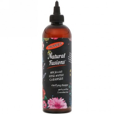 Palmer's, Natural Fusions, Micellar Rose Water Cleanser Clarifying Shampoo, 12 fl oz (350 ml) (Discontinued Item)