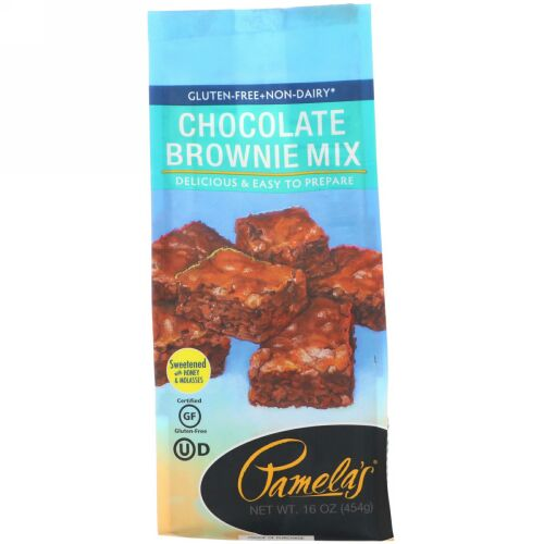 Pamela's Products, Chocolate Brownie Mix, Gluten Free, 16 oz (454 g) (Discontinued Item)