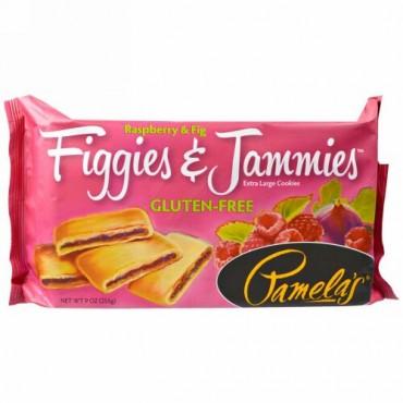 Pamela's Products, フィギーズ&ジャミーズ、特大クッキー、ラズベリー&フィグ、9オンス(255g) (Discontinued Item)