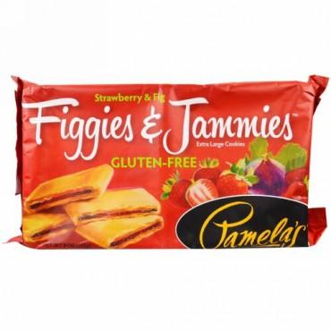 Pamela's Products, グルテンフリーフィギーズ&ジャミーズ、、特大クッキー、イチゴ&フィグ、9オンス(255g) (Discontinued Item)