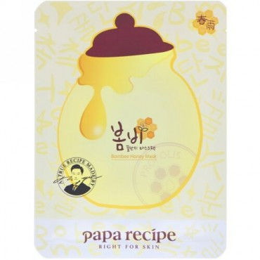 Papa Recipe, Bombee Honey Mask Pack, 10 Sheets, 25 g Each (Discontinued Item)