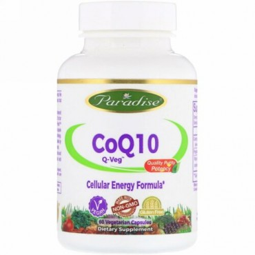 Paradise Herbs, CoQ10, Q-Veg, 60 Vegetarian Capsules