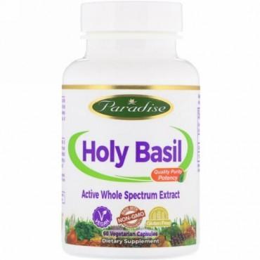 Paradise Herbs, Organics, Holy Basil, 60 Vegetarian Capsules